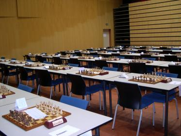 La salle avant le tournoi
