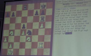 Certaines parties étaient retransmises en direct sur écran géant 2 de nos joueurs ont pu voir s'inscrire leurs noms sur le tableau.