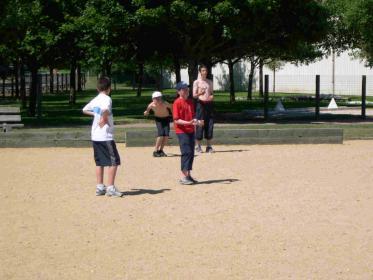 L' après midi des concours de boule étaient organisés