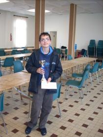 Grégoire 2ème du tournoi