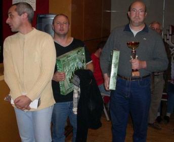 Les vainqueurs du tournoi A de gauche à droite Didier LAVAUD, Richard MIETLICKI, Denis GILLES