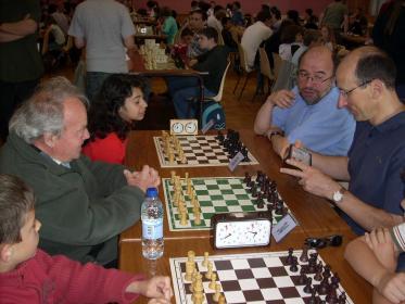 Match entre deux joueurs du club Serge contre Eric
