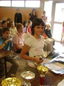 La vainqueur du tournoi filles