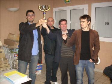 L'équipe d' Orléans vainqueur du tournoi: Jean-Baptiste, Cyrille, Jean-Francois et Thomas