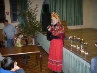 Madame Laconte pendant la remise des récompenses