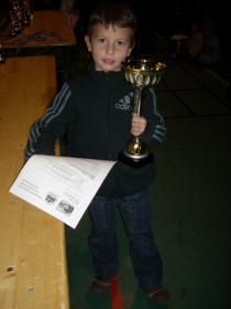 Mathias champion du Loiret petit-poussin