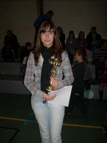 Elodie championne du Loiret minime