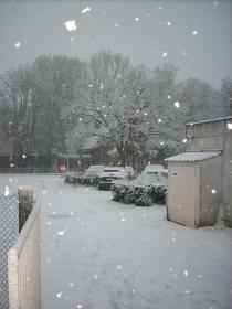 La neige c'est invitée au tournoi