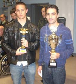 Ivan à gauche 1er open B et William champion du Loiret