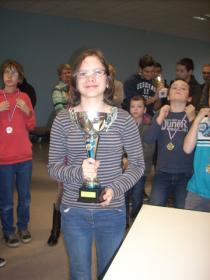 Justine 1ère du tournoi B