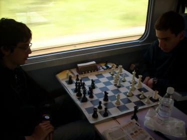 les échecs dans le train