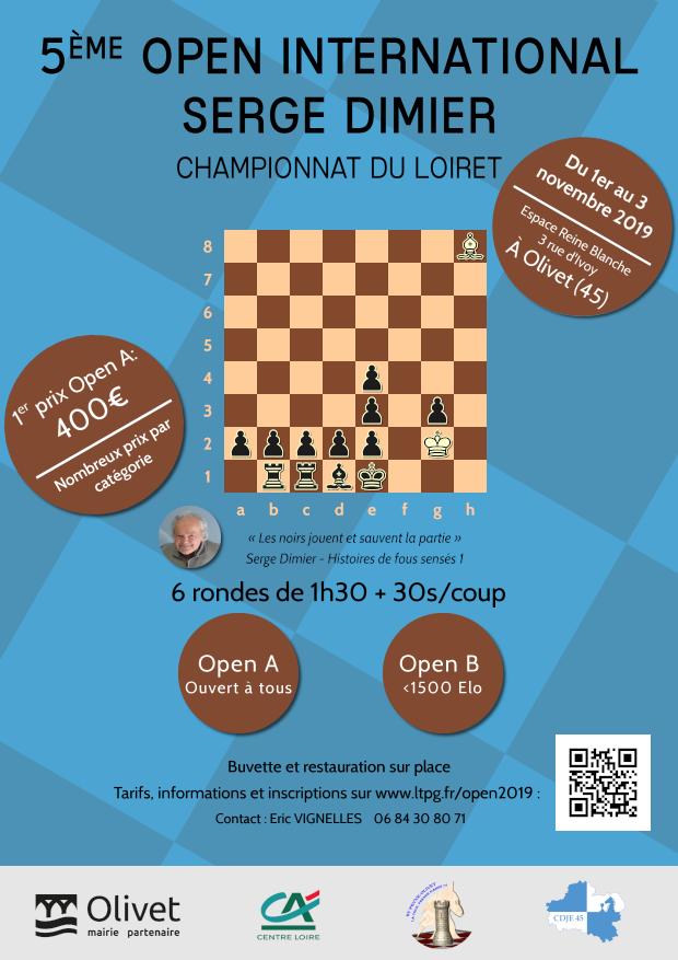 affiche Open Serge DIMIER 2019